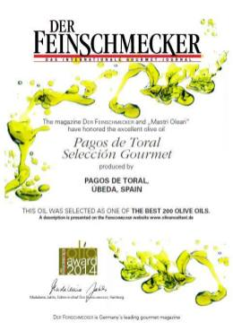 Premio al AOVE de Pagos de Toral en Germany