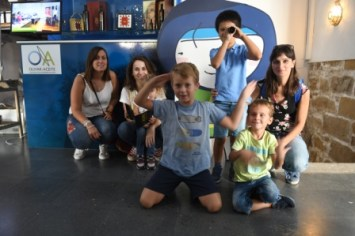 Niños en el Centro de Interpretación Olivar y Aceite