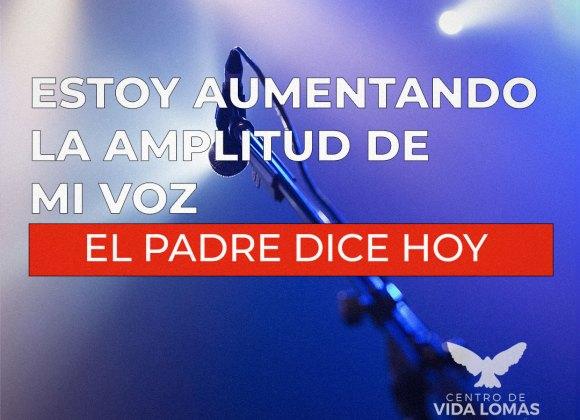 ESTOY AUMENTANDO LA AMPLITUD DE MI VOZ