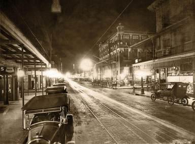 7th Avenue at night