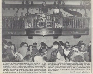 Centro Español 50th anniversary cabaret article