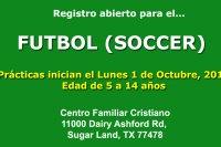 Futbol en el Centro Familiar Cristiano