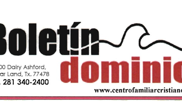 Boletín Dominical del Centro Familiar Cristiano