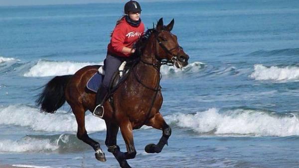 Full speed along Gandia beach - fantastic!