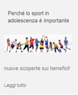 sport adolescenza benessere giovani