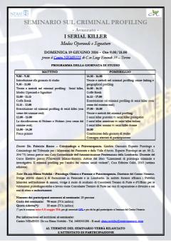 LOCANDINA Seminario Serial killer. Modus operandi e Signature - 19 Giugno 2016 - TORINO.png