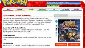 Nuevas Misiones para ambas versiones de Pokémon Mundo Misterioso 2