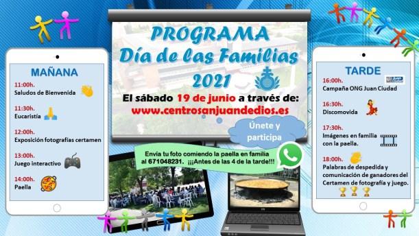Programa Día de las Familias 2021 Centro San Juan de Dios