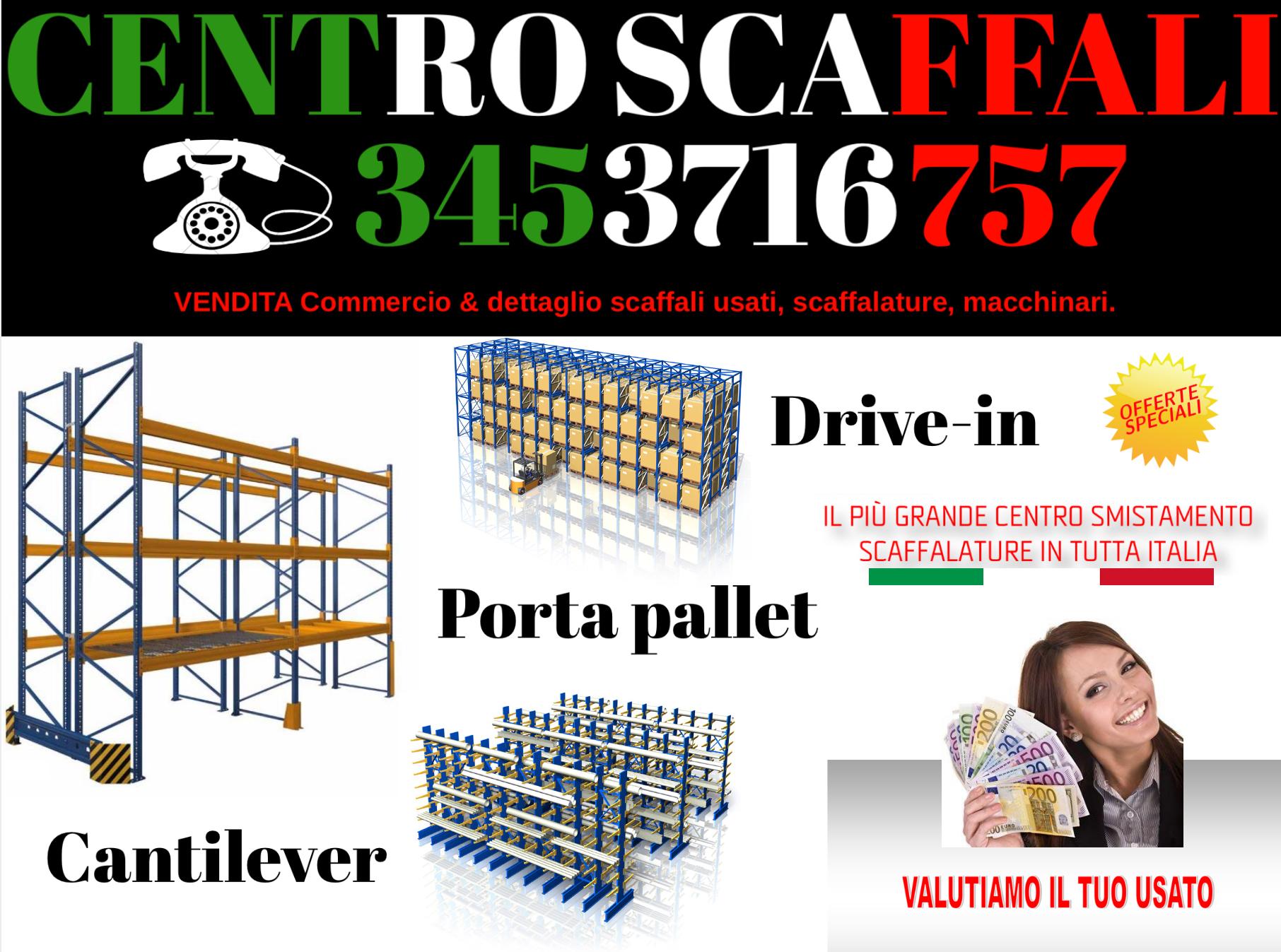 Porta pallet usati in offerta piccoli e grandi quantitativi, in tutta Italia materiale ricondizionato e con cartelle di portata, vendiamo, compriamo, trasportiamo, e montiamo.