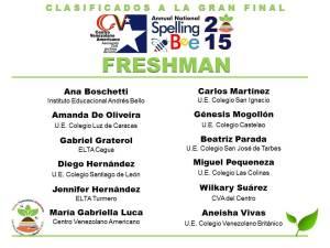 CLASIFICADOS SB2015_FRESHMAN