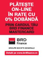 Plata in rate prin card BRD
