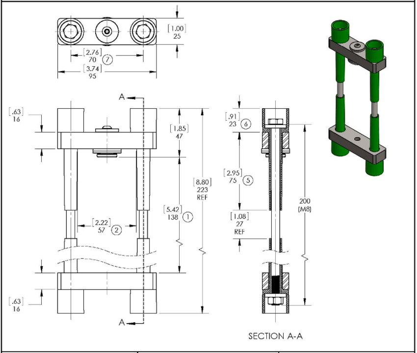An image of a SCR Clamp Drawing or chematics used in production