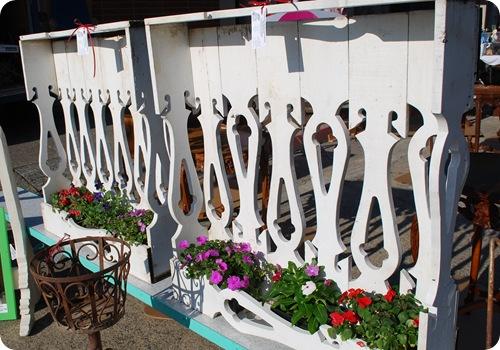 decorative fence post flower box