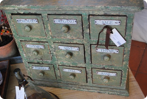 vintage home spice box