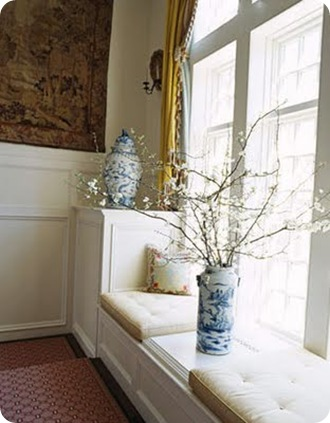branches in blue and white vase house beautiful
