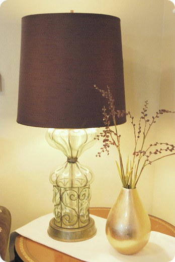 chocolate brown drum shade