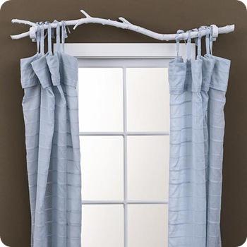 tree branch curtain rod diy website