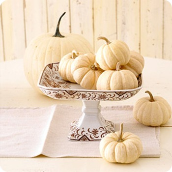 bhg white pumpkins on compote