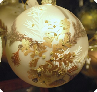 brown and white ornament