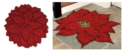 poinsettia rugs