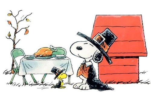 snoopy and woodstock thanksgiving