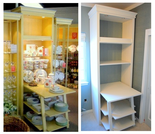 bookcases before and after
