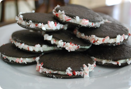 chocolate wafers with peppermint