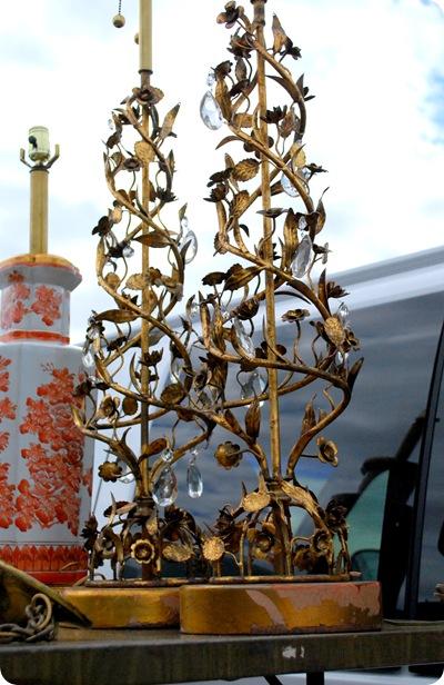 golden filigree lamps