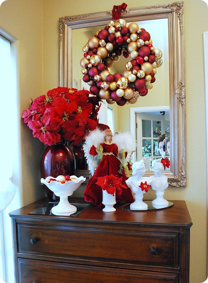 highboy with christmas decor