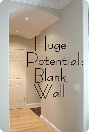 blank wall mud room