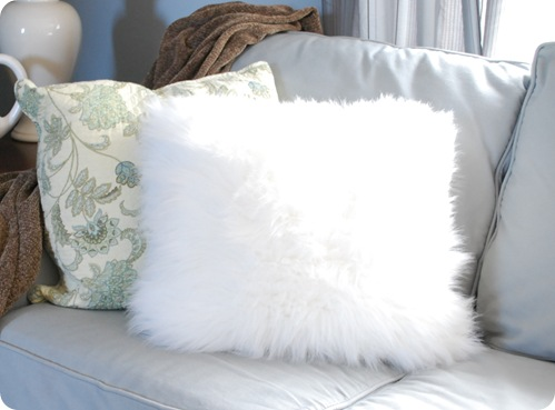 Fuzzy Pillows From A Surprising Source Centsational Style