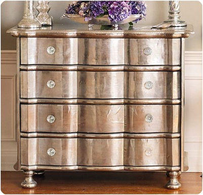 Ordinaire German Silver Bowfront Chest Wisteria