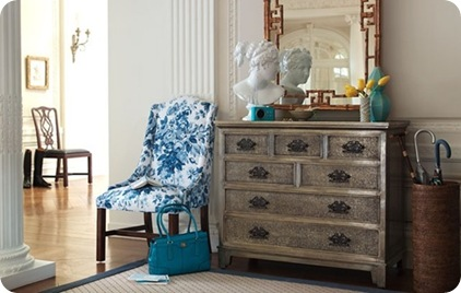 silver leaf dresser decorpad