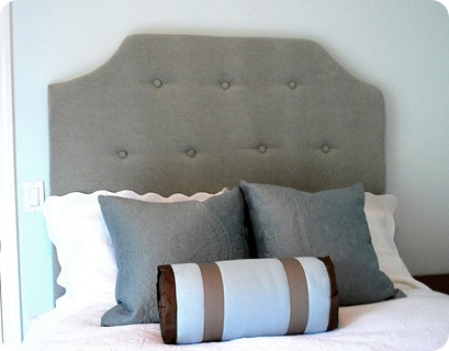 tufted headboard swoop detail