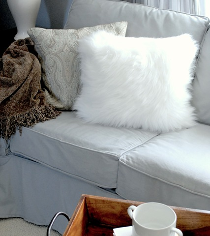 Fuzzy pillows from a surprising source centsational style for White faux fur pillow