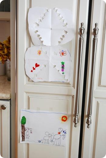 pics on fridge