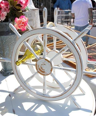 ship wheel wine rack