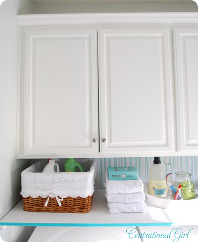 cg laundry room white cabinets and shelf
