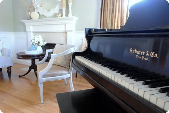piano keys living room