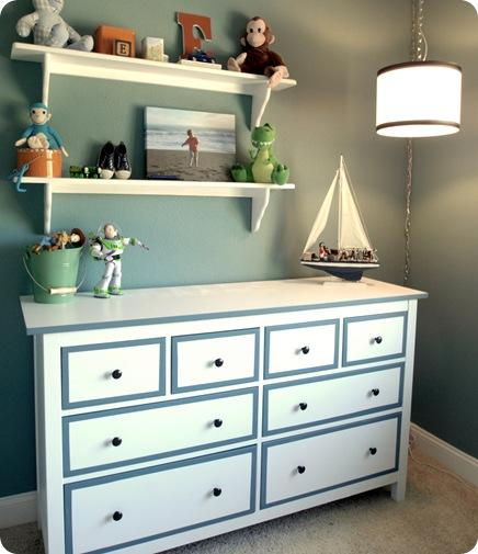 boys room dresser from side