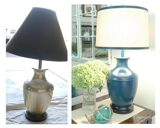 brass lamp before and after