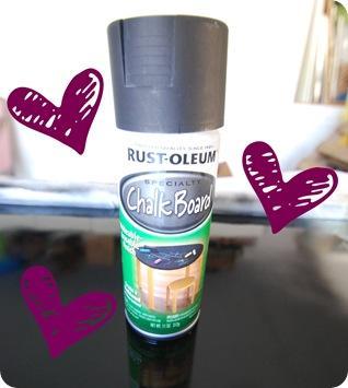 chalkboard spray paint hearts