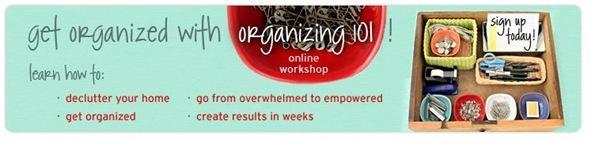 organizing 101 banner