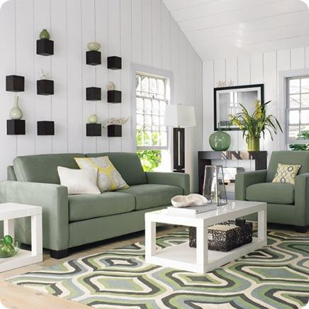 west elm rug and sofas