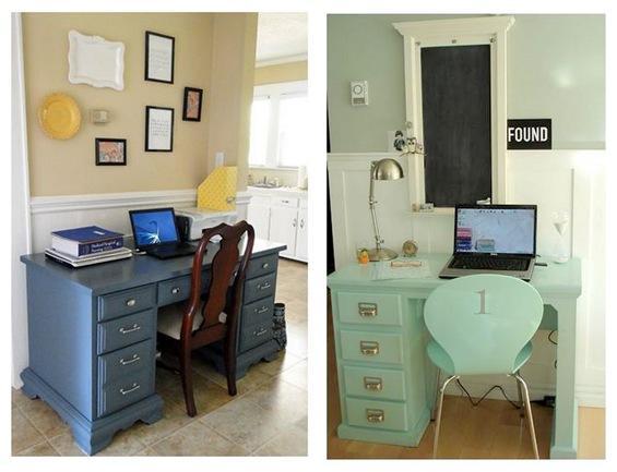 colorful desks