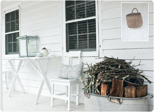 front porch and firewood