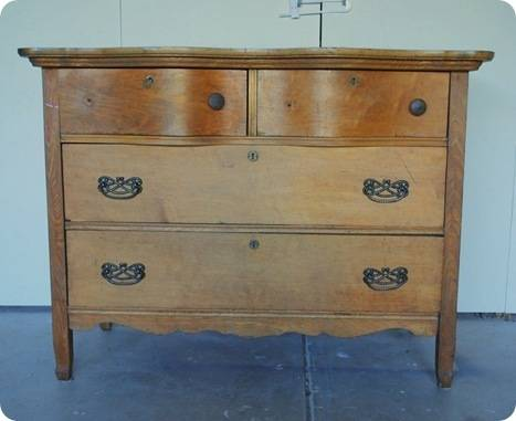 honey dresser before