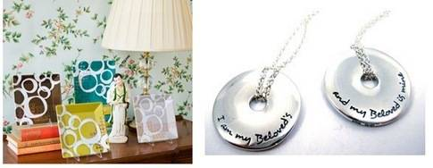 plates and necklace