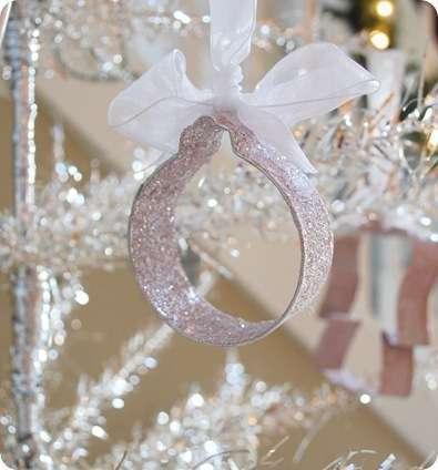 glittered ornament
