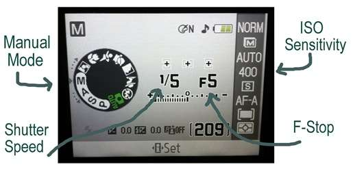 manual mode settings